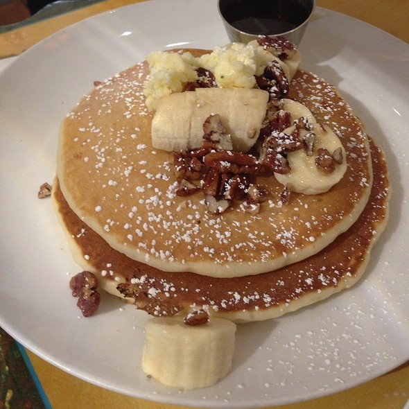 Pecan Pancakes @ Honey Honey Cafe & Crepery