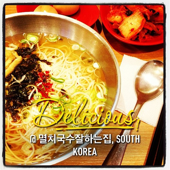 I really love these noodles #멸치국수잘하는집 @ 멸치국수잘하는집