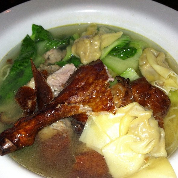 Roasted Duck Wonton With Egg Noodle Soup