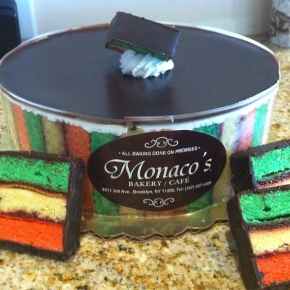 New York Rainbow Cookie Crumb Cake Bakery