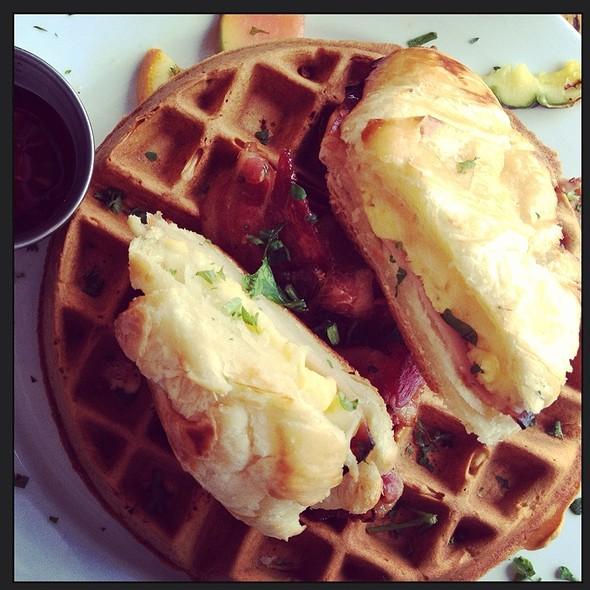 Waffle And Breakfast Croissant @ Le Caffe Mariani
