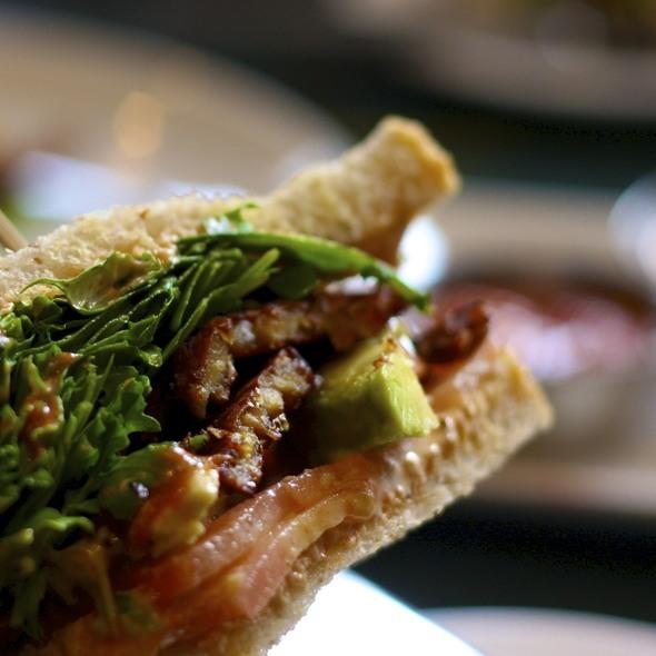 BLAT with aioli, salad & fries @ COUNTER Vegetable Bistro & Organic Bar