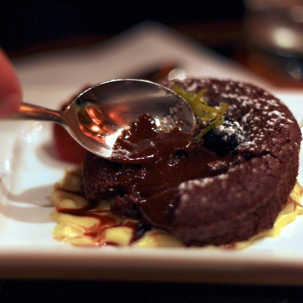 Molten Chocolate Cake @ Brandy Library Lounge
