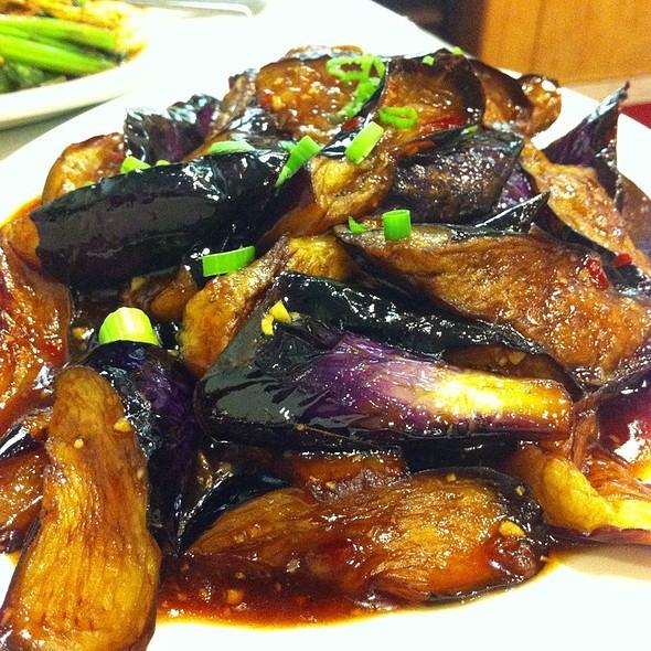 Eggplant With Hot Garlic Sauce @ Bamboo Garden