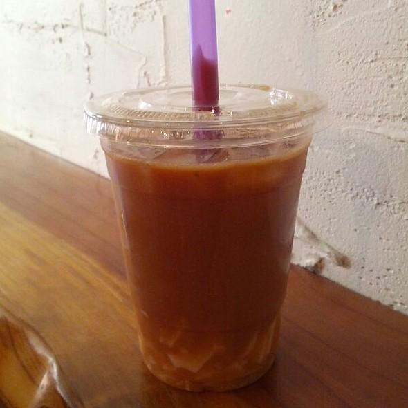 Black Milk Tea With Almond Jelly @ Boba Guys