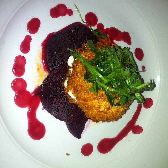 Panko Goat Cheese With Beets @ Borealis Grillhouse & Pub