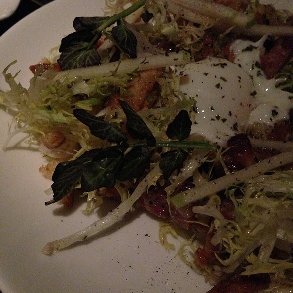 Poached Egg, Lardons and Frisee Salad - The Grill at Forty 1 North, Newport, RI