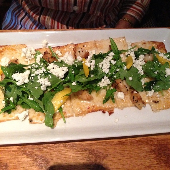 Grilled Shrimp And Mango Flatbread @ Carmel Cafe & Wine Bar
