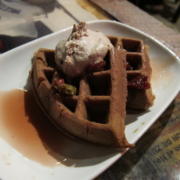 Mexican Chocolate Waffles @ El Centro D.F.