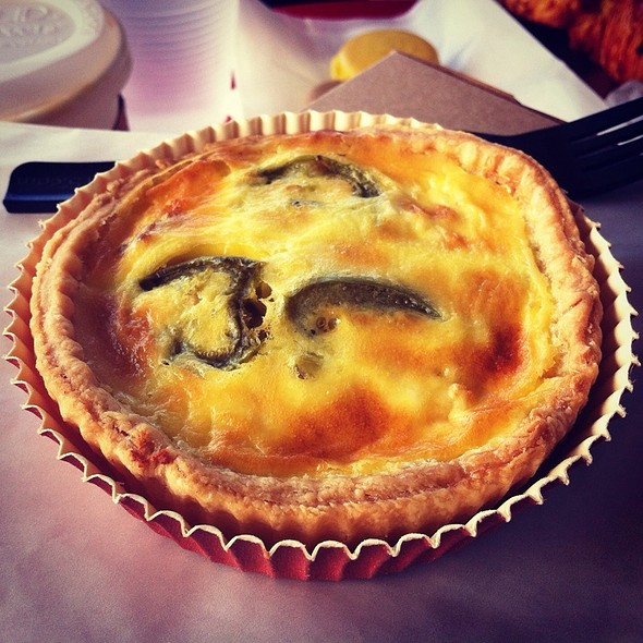 Bacon Jalapeno Goat Cheese Quiche @ Bakery Lorraine
