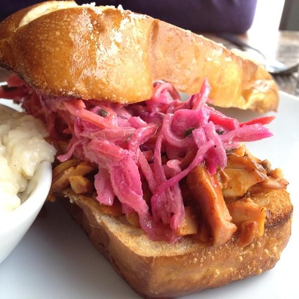 Bbq Chicken Sandwich, Blue Cheese Slaw, Pretzel Bun - Harvest - Louisville, Louisville, KY