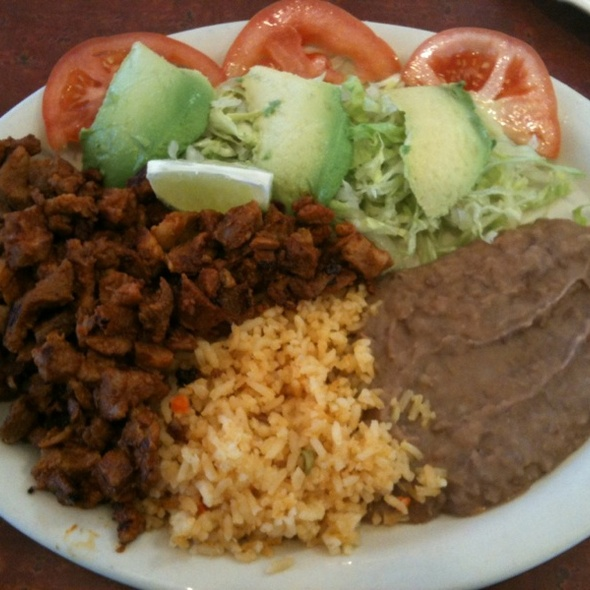 Pastor Combination Plate @ Taqueria Guadalajara