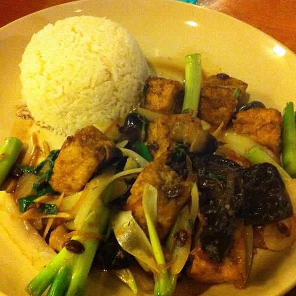 Tofu With Lemongrass, Shitake Mushrooms And Roasted Chili at Madam Mam ...