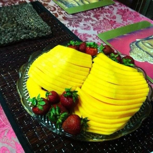 Rock Melon & Strawberrys  @ Home