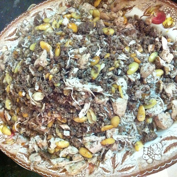 Mansaf With Chicken And Mince Meat  @ Home