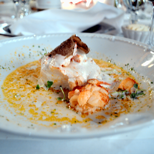 Cod & Maine Lobster with Truffle Potato Foam - Chez Francois - Vermilion, Vermilion, OH