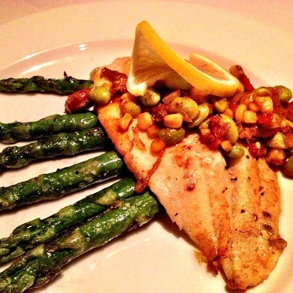 Flounder With Crawfish Succotash  - The Magnolia Thomas Restaurant, Woodstock, GA