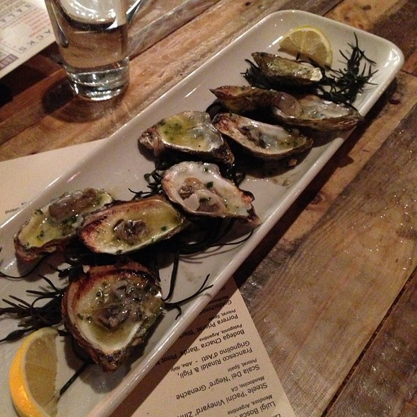 Wood Grilled Oysters - Butcher & the Boar, Minneapolis, MN