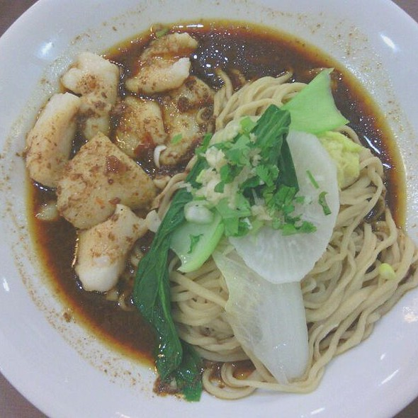 Fish Fillet Dry Noodles @ Kanzhu Hand-Pulled Noodles, Marikina