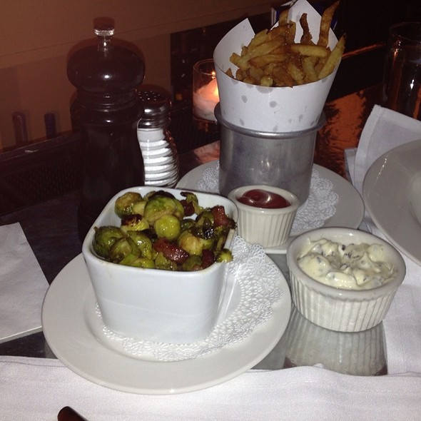 Frites And Brussel Sprouts - Cafe Luxembourg, New York, NY