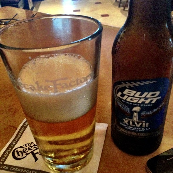 Bud Light @ The Cheesecake Factory