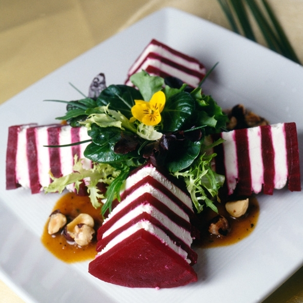 Roasted Chino Farm's Beet Layer Cake @ Spago Beverly Hills