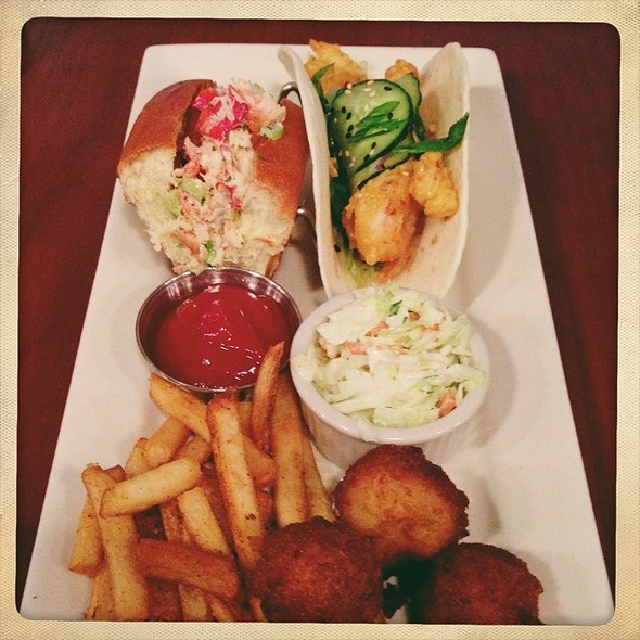 Half Lobster Roll, Shrimp Taco, Hush Puppies, & Fries - Mitchell's Fish Market - Birmingham, Birmingham, MI