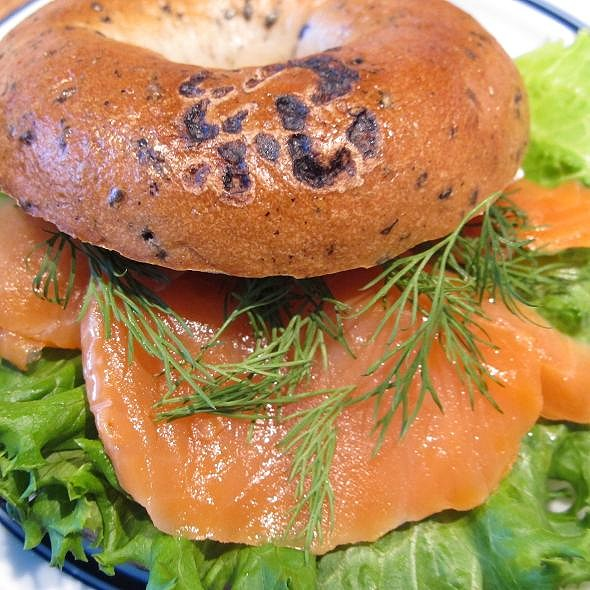 Bagel With Smoked Salmon And Cream Cheese @ Cafe on The Lily Hill