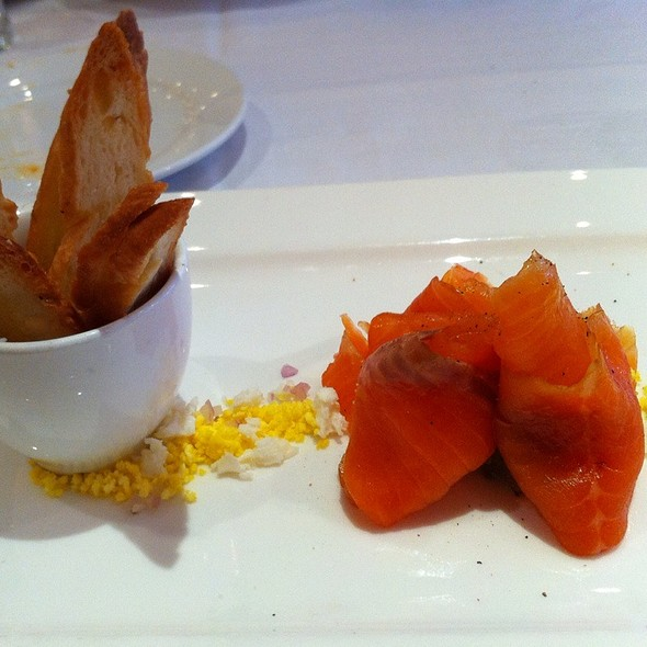 Cured Wolfe Head Salmon - Creme Brasserie, Toronto, ON