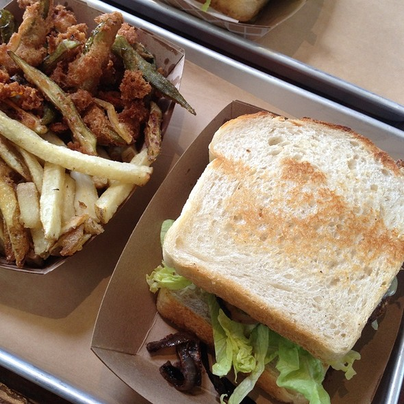 Veggie Burger With Fry Basket @ Victory Burger