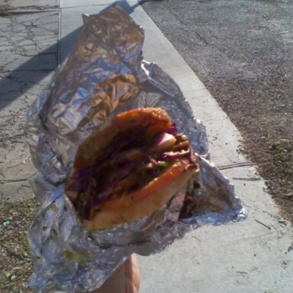 Custom Vegan Sandwich @ The Jalopy