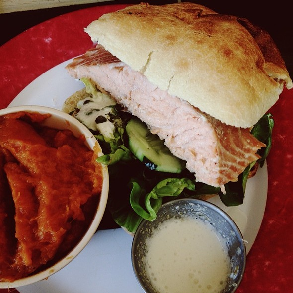 Smoked Salmon Sandwich @ Baby Blues BBQ