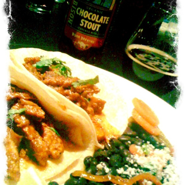 Grilled Chicken Mole Tacos @ Bistro Sabor