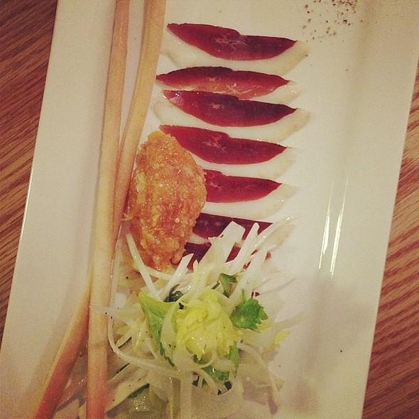 Dried duck magret, endive & most adds orange salad @ Pastaga @ Pastaga