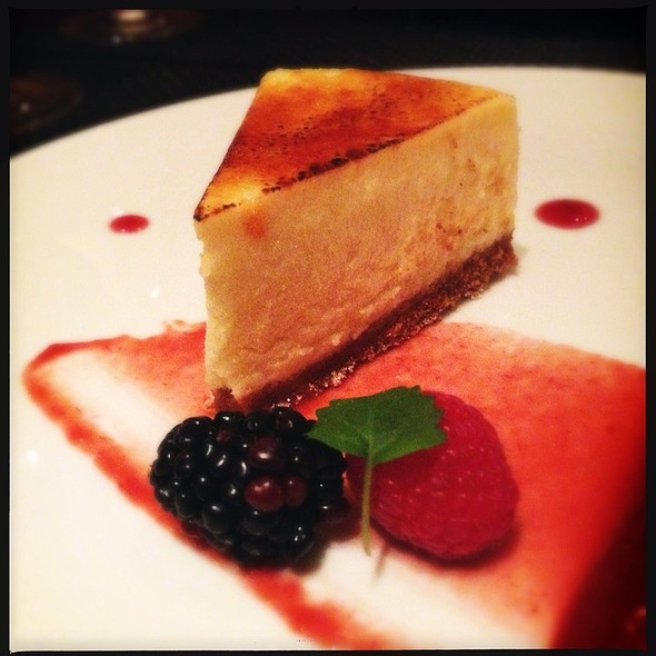 Caramelized Stilton Cheesecake - Diva at the Met, Vancouver, BC