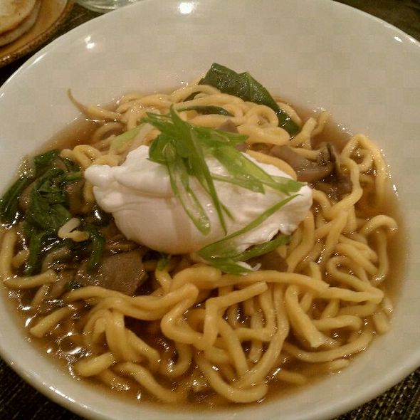 Egg Noodles with poached egg and maitake mushroom broth @ Kin Shop