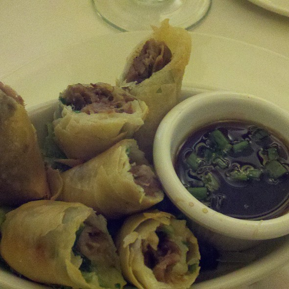 Duck Spring Rolls @ Palace Cafe