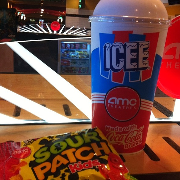 White Cherry Icee And Sour Patch Kids