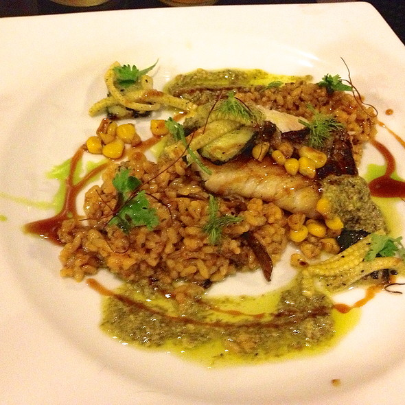 Snapper with Aligue and Kani Rice with Chimichurri @ Sensei Sushi Bar