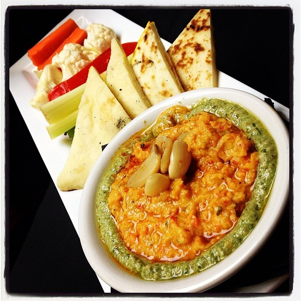 Roasted Red Pepper Hummus - Bleu Restaurant and Wine Bar, Columbia, MO