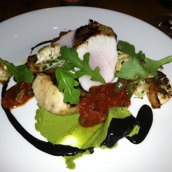 Grilled Cobia, tomato, cauliflower, black garlic, arugula - Little Fish, Philadelphia, PA