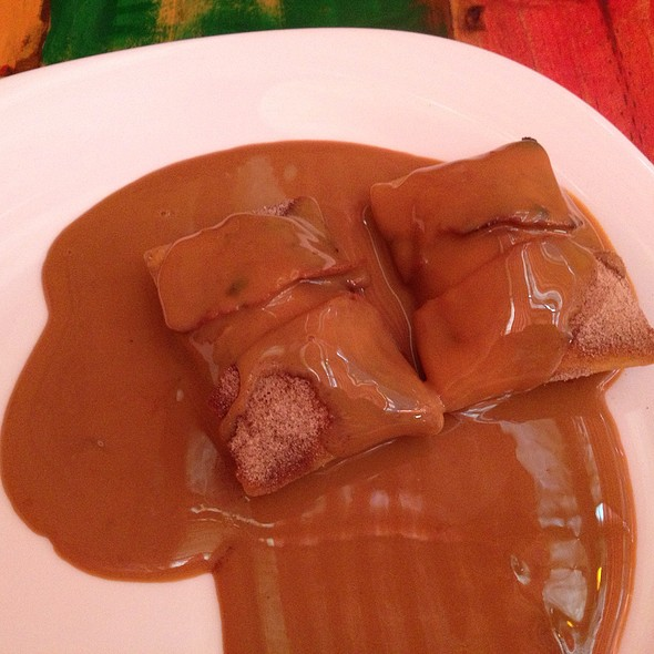 Banana Chimichanga Dessert @ Totopos Gastronomia Mexicana