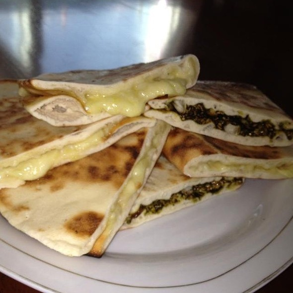 Manoush With Cheese And Zatar  @ Home