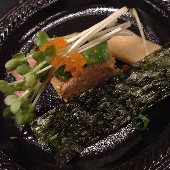 Savory Uni Cheesecake With Mentsuyu,Sprouts,Wasabi,Pickled Daikon,Ginger And Nori - Posh - Scottsdale, Scottsdale, AZ