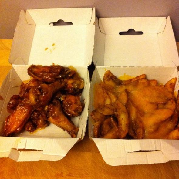 Buffalo Wings & Potato Wedges @ Buffalo Wild Wings Grill & Bar