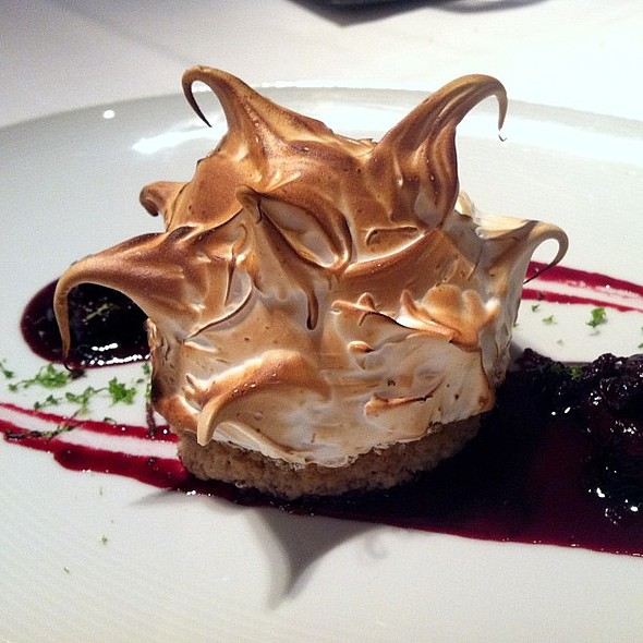 Key Lime Baked Alaska with Huckleberry Compote - Spago - Las Vegas, Las Vegas, NV