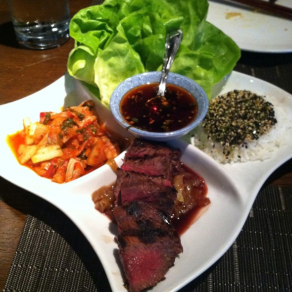 Calbi Hanger Steak Lettuce Wraps @ AnQi By Crustacean
