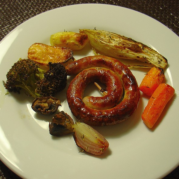 Sausage With Oven Roasted Veggies @ Zupft's