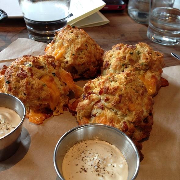 Bacon Cheddar Buttermilk Biscuit  @ Manhattan Beach Post