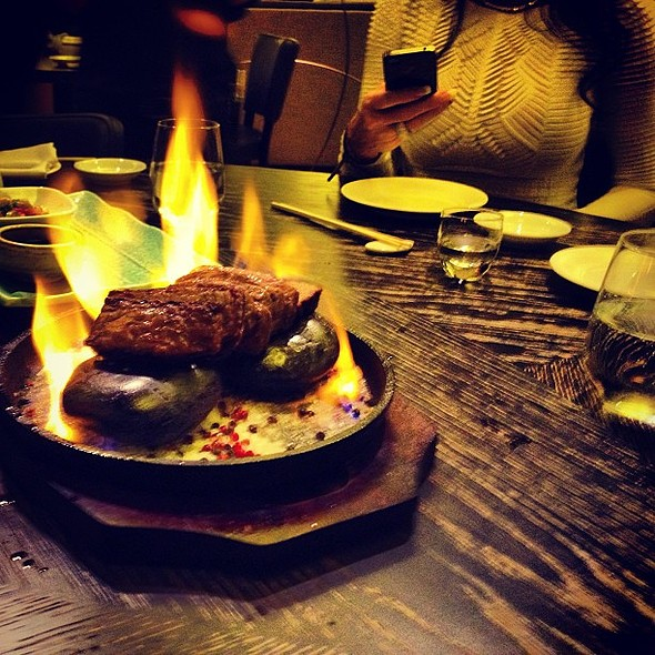 Wagyu beef. It melts in your mouth. Really. @ Nobu Restaurant Caesars Palace